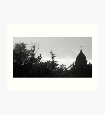 #933  The Carmel Mission  (B&W) Art Print
