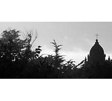 #933  The Carmel Mission  (B&W) Photographic Print