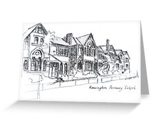 Kensington Primary School Melbourne. Elizabeth Moore Golding 1993 Greeting Card