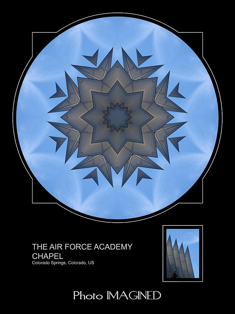 THE AIR FORCE ACADEMY CHAPEL, COLORADO SPRINGS, CO. by PhotoIMAGINED