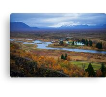 Þingvellir National Park Canvas Print
