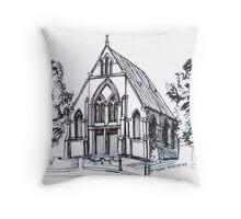 Christ Church Kensington Melbourne. Elizabeth Moore Goldingⓒ Throw Pillow