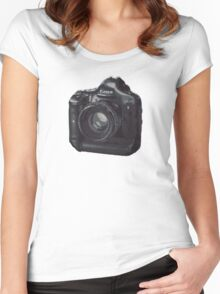 Dreamer Camera Photographer Women's Fitted Scoop T-Shirt