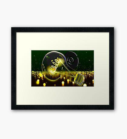 Pokemon Pikachu Lightbulb  Framed Print