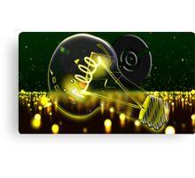 Pokemon Pikachu Lightbulb  Canvas Print