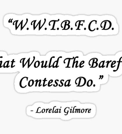Barefoot Contessa Sticker