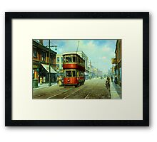 Stockport tram. Framed Print