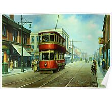Stockport tram. Poster