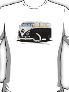 VW Splitty (11 Window) Black T-Shirt