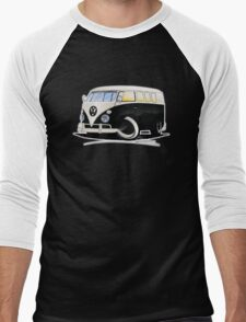 VW Splitty (11 Window) Black Men's Baseball ¾ T-Shirt