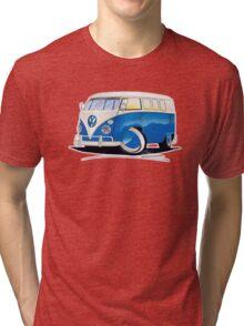 VW Splitty (11 Window) Blue Tri-blend T-Shirt
