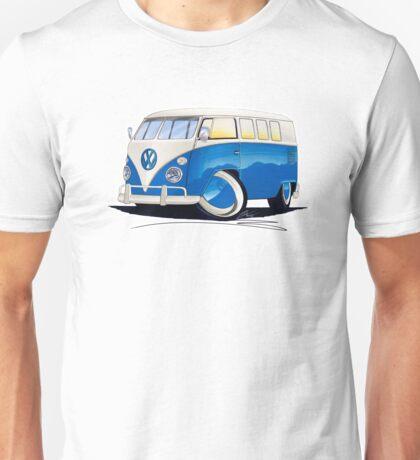 VW Splitty (11 Window) Blue Unisex T-Shirt