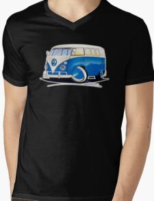 VW Splitty (11 Window) Blue Mens V-Neck T-Shirt