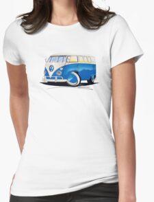 VW Splitty (11 Window) Blue Womens Fitted T-Shirt