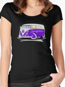 VW Splitty (11 Window) Purple Women's Fitted Scoop T-Shirt