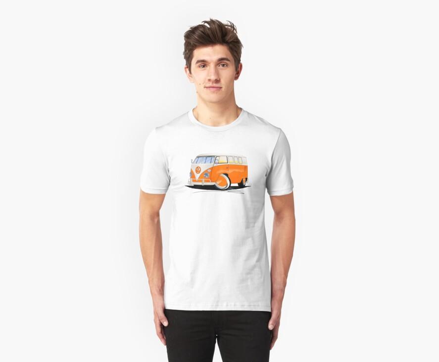 VW Splitty (11 Window) Orange by Richard Yeomans