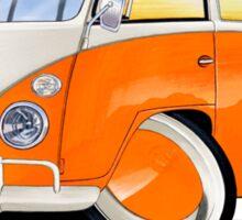 VW Splitty (11 Window) Orange Sticker