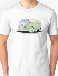 VW Splitty (11 Window) Pale Green Unisex T-Shirt