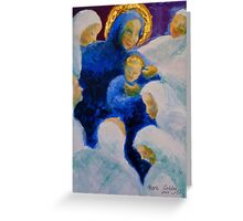 Being adored: Madonna and child. Greeting Card