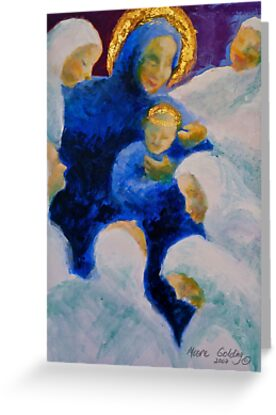Being adored: Madonna and child. by Elizabeth Moore Golding
