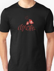 AMORE T-Shirt (on a dark background) Unisex T-Shirt