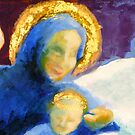 Adoring Madonna and child (detail) by Elizabeth Moore Golding
