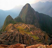 Macchu Piccu - Ancient Incan city in Cloud Forest by Georgina Steytler