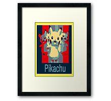 Pikachu Obama Style Effect Framed Print