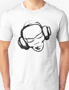 headphone black Unisex T-Shirt