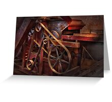 Steampunk - Gear - Belts and Wheels  Greeting Card