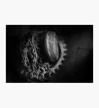 Steampunk - Gear - Hoist and chain Photographic Print