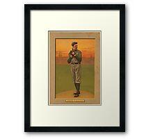 Benjamin K Edwards Collection Addie Joss Cleveland Naps baseball card portrait Framed Print