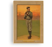 Benjamin K Edwards Collection Addie Joss Cleveland Naps baseball card portrait Canvas Print