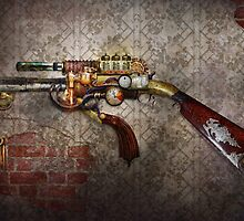 Steampunk - Gun - The sidearm by Mike  Savad