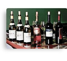 Bottles of wine Canvas Print