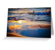 Blue and Gold Reflections Greeting Card