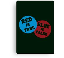 True or False (Dark Version) Canvas Print