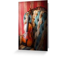 Music - Violin - Musical Elegance  Greeting Card