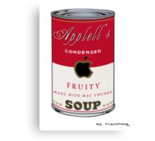 Appell's Mac chunks Street Art by Dashiner Canvas Print
