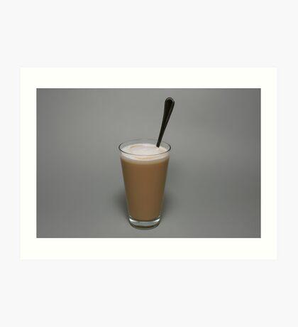 Coffee latte Art Print