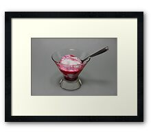 Sundae with berry jam Framed Print