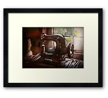 Sewing Machine - Leather - Saddle Sewer Framed Print
