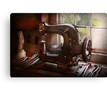 Sewing Machine - Leather - Saddle Sewer Canvas Print