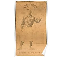Benjamin K Edwards Collection Bill George New York Giants baseball card portrait 004 Poster