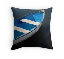 Boat on Lagoon 2 Throw Pillow