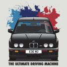 BMW E30 M3 (M Splash) - Black Sport Evo - Black Text by Sharknose
