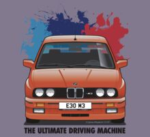 BMW E30 M3 (M Splash) - Henna Red - Black Text by Sharknose