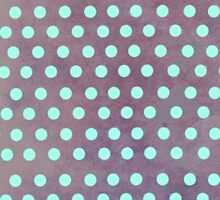 Tourquise and purple Polka dots iphone case by Ruth Fitta-Schulz