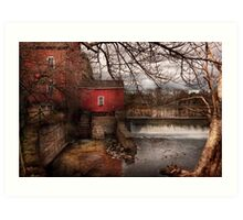 Mill - Clinton, NJ - The mill and wheel Art Print
