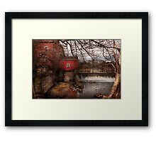 Mill - Clinton, NJ - The mill and wheel Framed Print